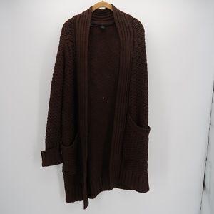 Moda International Open Front Knit Duster Cardigan